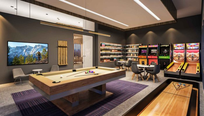 YotelPAD Mammoth game room rendering