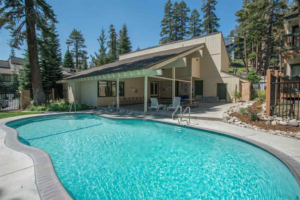Pool Area at Discovery IV Condo Complex - Mammoth Lakes