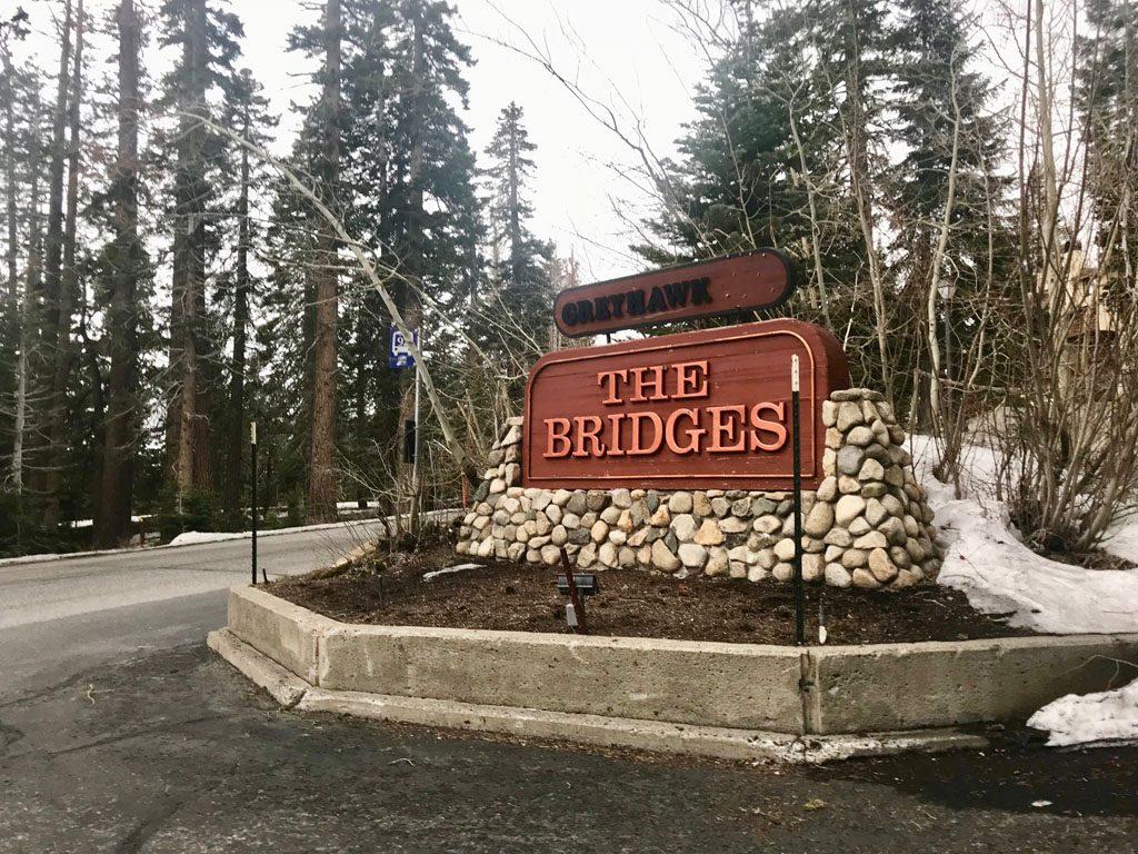 Entrance for The Bridges Condos - Mammoth Lakes