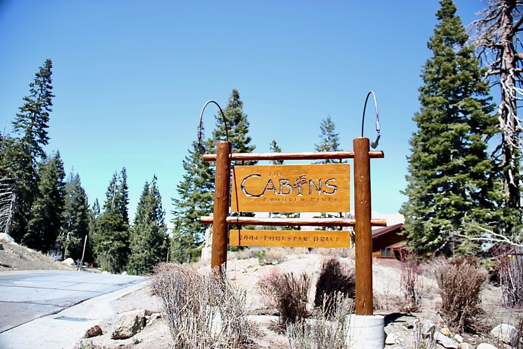 Entrance of The Cabins at Crooked Pines - Mammoth Lakes